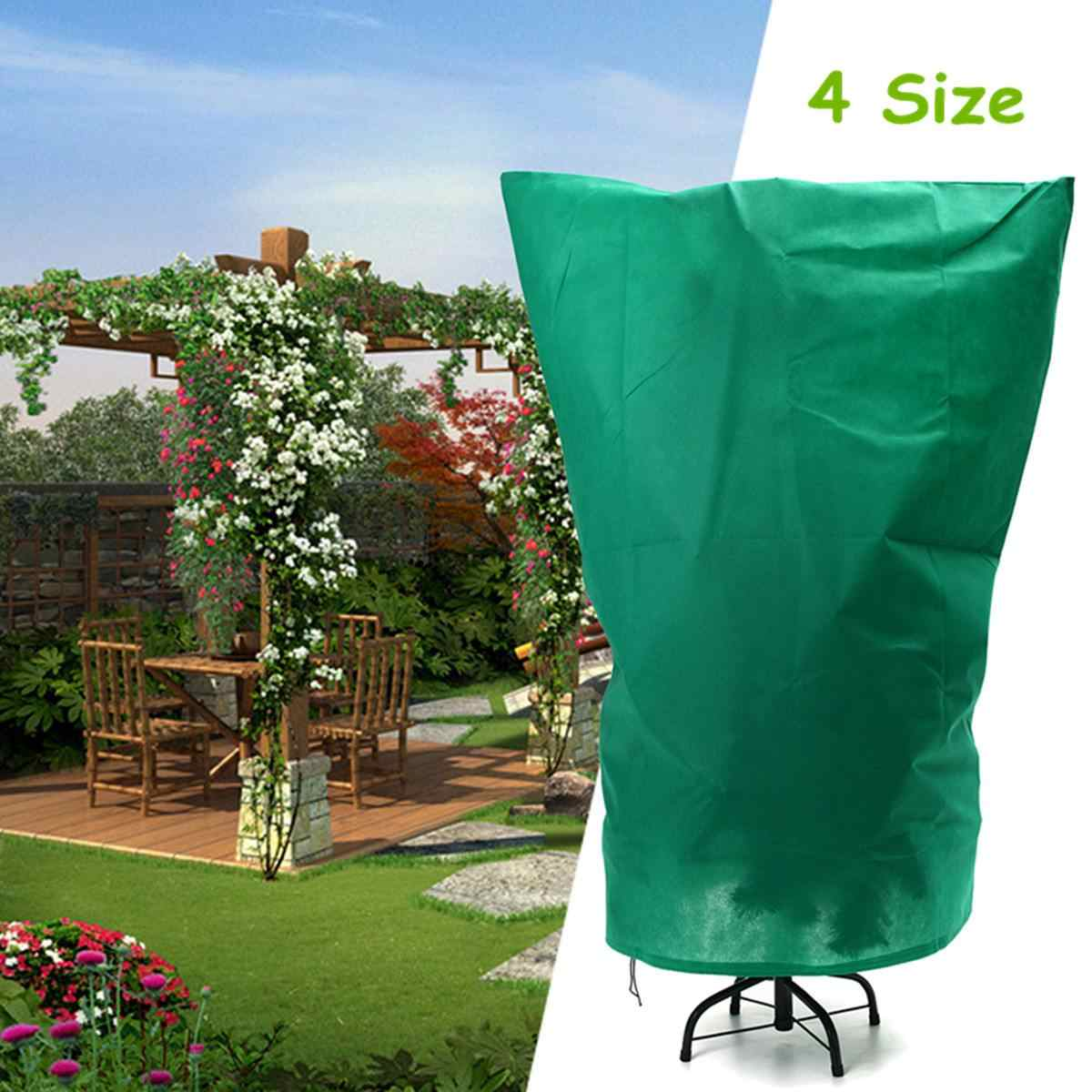 Plant Protection Bags Winter Cover Plants Garden Tool Plant Cover Bag Polyester Fabrics Anti-Insect Organic Net Frost 4 Size