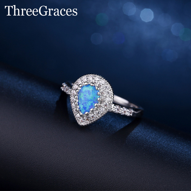 engagement fashion item stone white blue wedding jewelry drop gold sapphire aquamarine crown new ring cz light charming water rings filled