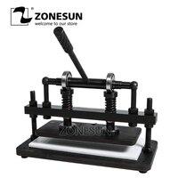 ZONESUN 3616 см двухколесный ручной станок для резки кожи фотобумага ПВХ/EVA лист форма для вырубки кожи высечки инструмент