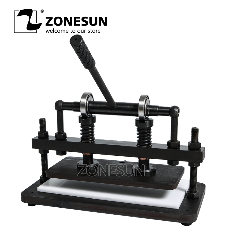 ZONESUN 3616cm Double Wheel Hand leather cutting machine photo paper PVC/EVA sheet mold cutter leather Die cutting tool