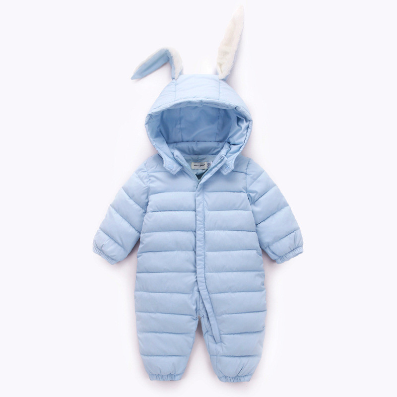 Infant Baby Boy Girl Clothes Winter Warm Bebes Clothes Newborn Rabbit Baby Boy Girl Romper Jumpsuit Hooded Kid Outerwear Costume
