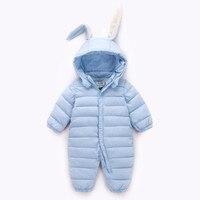 Infant Baby Boy Girl Clothes Winter Warm Bebes Clothes Newborn Rabbit Baby Boy Girl Romper Jumpsuit
