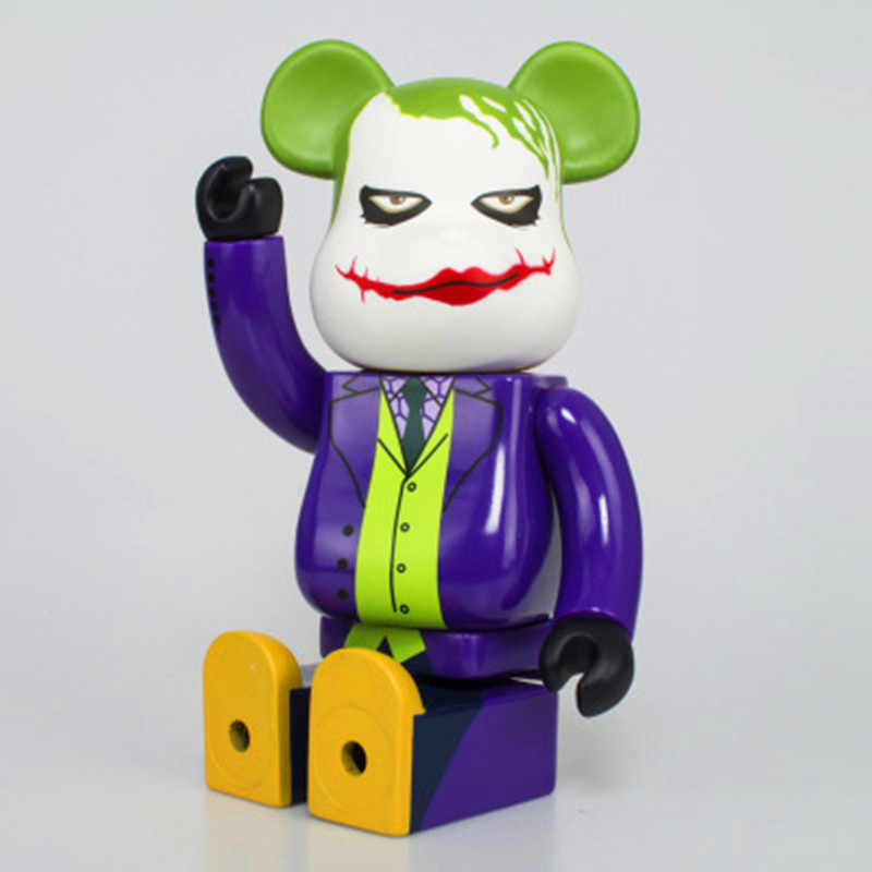 e0689a23f9df ... 28CM JOKER Suicide Squad Bearbrick Be rbrick Batman Toys DIYGraffiti  PVC Action Figure Gloomy Bear ...