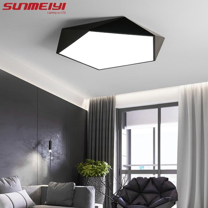 Dimmbare LED Decke Lampen Design Kreative Geometrie luminaria Wohnzimmer Gang balkon lampe plafond chambre Decke Beleuchtung