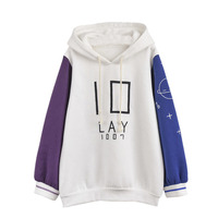 High Quality Autumn Women Hoodies Cute Unicorn Shape Letters Planets Printed Hooded Sleeve Contrast Color Design