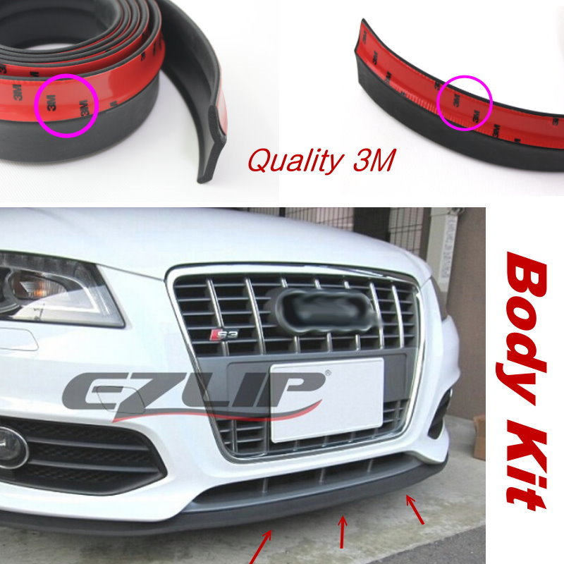 For <font><b>Audi</b></font> TT TTS A1 <font><b>A3</b></font> A4 A5 B8 SQ5 Q1 R8 RS5 RS7 Front Lip Deflector Lips <font><b>Skirt</b></font> / Body Chassis <font><b>Side</b></font> Protection / Spoiler Valance image