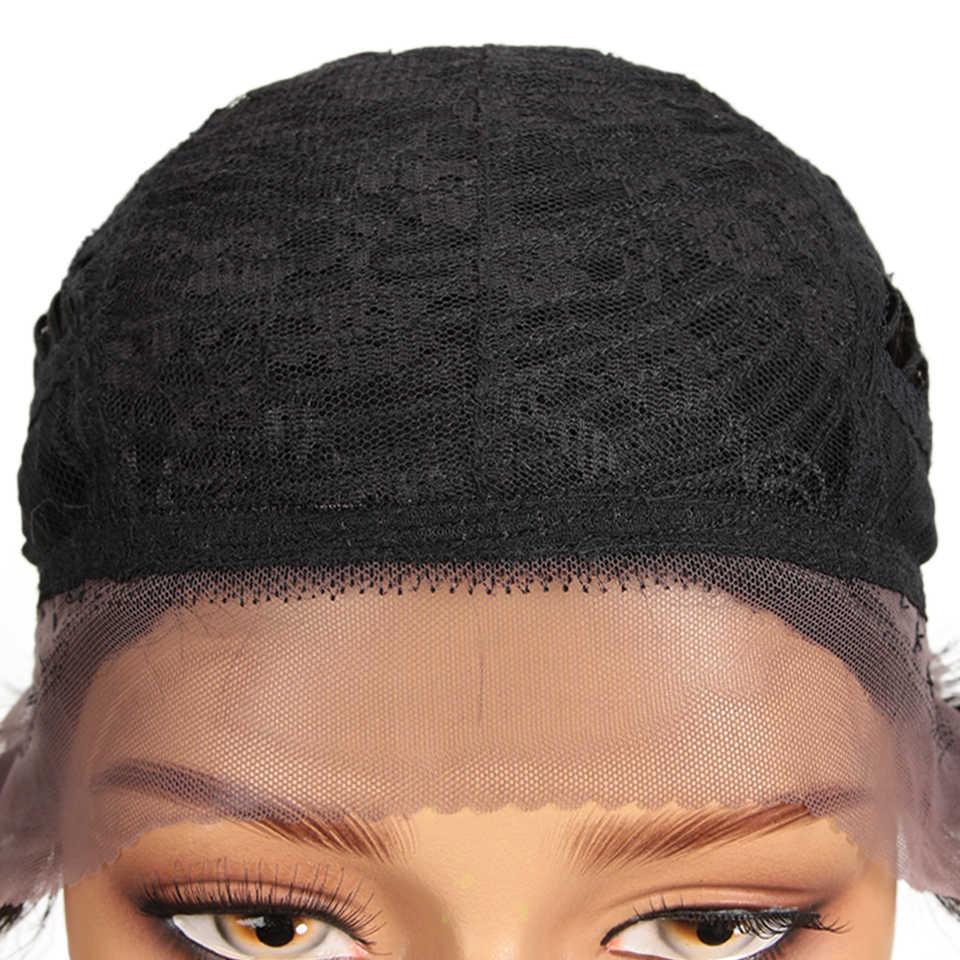 Peluca de encaje corto y elegante pelucas de pelo humano recto de Ombre pelucas de cabello humano brasileño Remy de 100% Peluca de encaje corto Peluca de pelo Humain