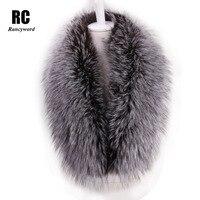 Rancyword Wholesale 100 Real Fox Fur Collar Scarf Women Natural Fur Scarf High Quality Genuine