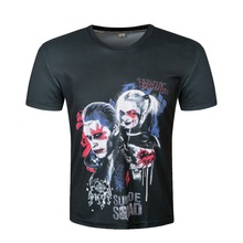 Suicide Squad T Shirt Harley Quinn Hip Hop Pop T-shirt Joker Cool Novelty Funny Style Men Women Printed Fashion