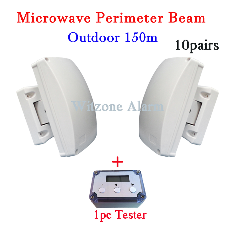 10pairs Outdoor 150meters Wired Microwave Perimeter Barrier BEAM Curtain Beam Detector for Outdoor Intrusion Alarm System