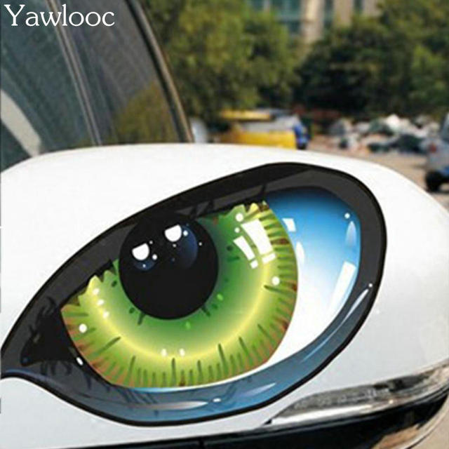 US $1 58 |Yawlooc 2Pcs Horrible Mysterious Monster Eyes Sticker Car Sticker  Waterproof Decals DIY Car Styling Car Accessories-in Car Stickers from