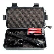 Ultrafire светодиодный светильник-вспышка, супер яркий XML-T6/L2 фонарь, походный светильник, водонепроницаемый велосипедный светильник, перезаряжаемый аккумулятор 18650