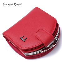2016 Genuine Leather Wallet Women Wallets And Woman Short Purses Designer Small Coin Clutch Bag Purse