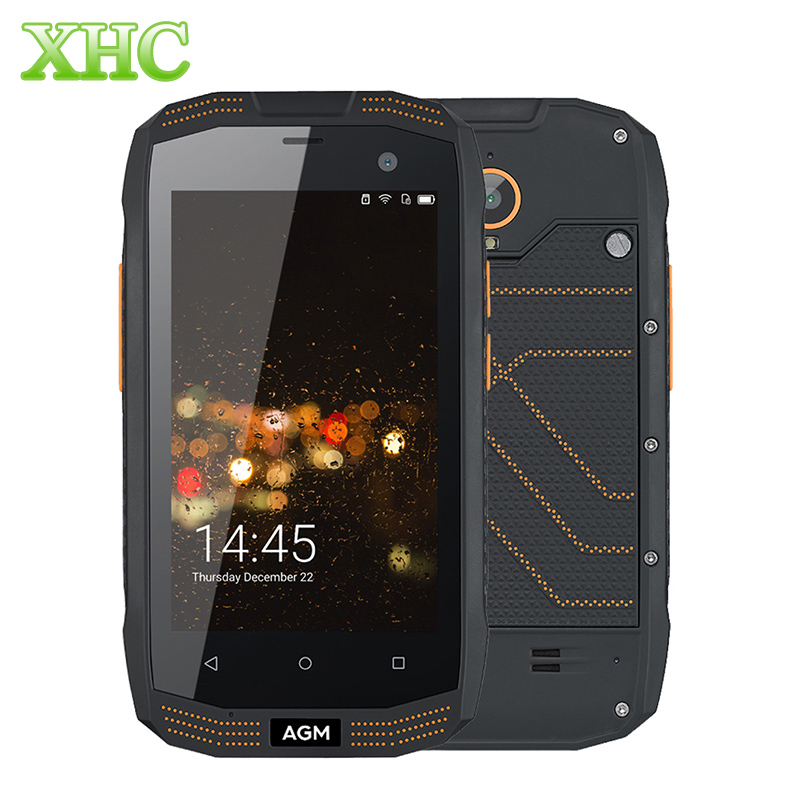 AGM A2 IP68 Waterproof Mobile Phone 4.0 inch Android 5.1 MSM8909 Quad Core 2G RAM 16G ROM Russian language A2 Rio 4G Smartphone