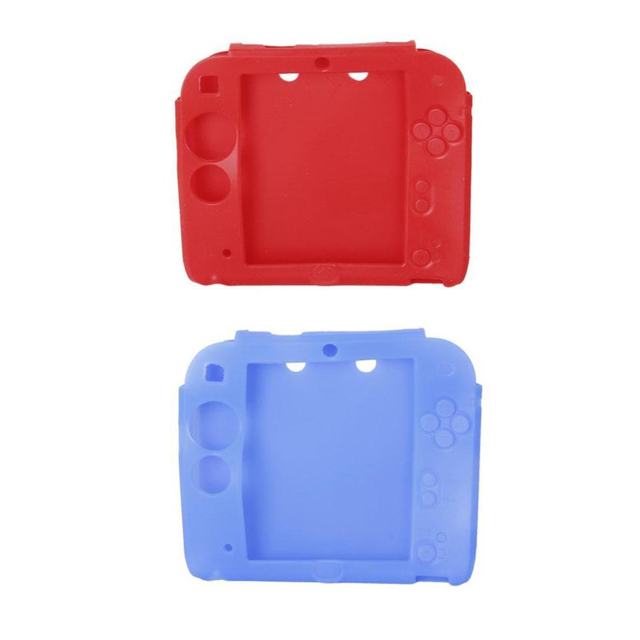 edt 2 pcs cases covers silicone protective cases for 2ds red and