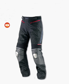 free delivery Komine PK-712 Summer Motorcycle Titanium Knee pad double protectiOn Racing pAnts Black