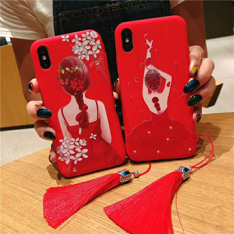 For iPhone XS Max Case iPhone XS XR 3D Relief Cute Goddess Phone Case for iPhone X 6 6S 7 8 Plus Soft TPU Cover For iPhone 8 Plu