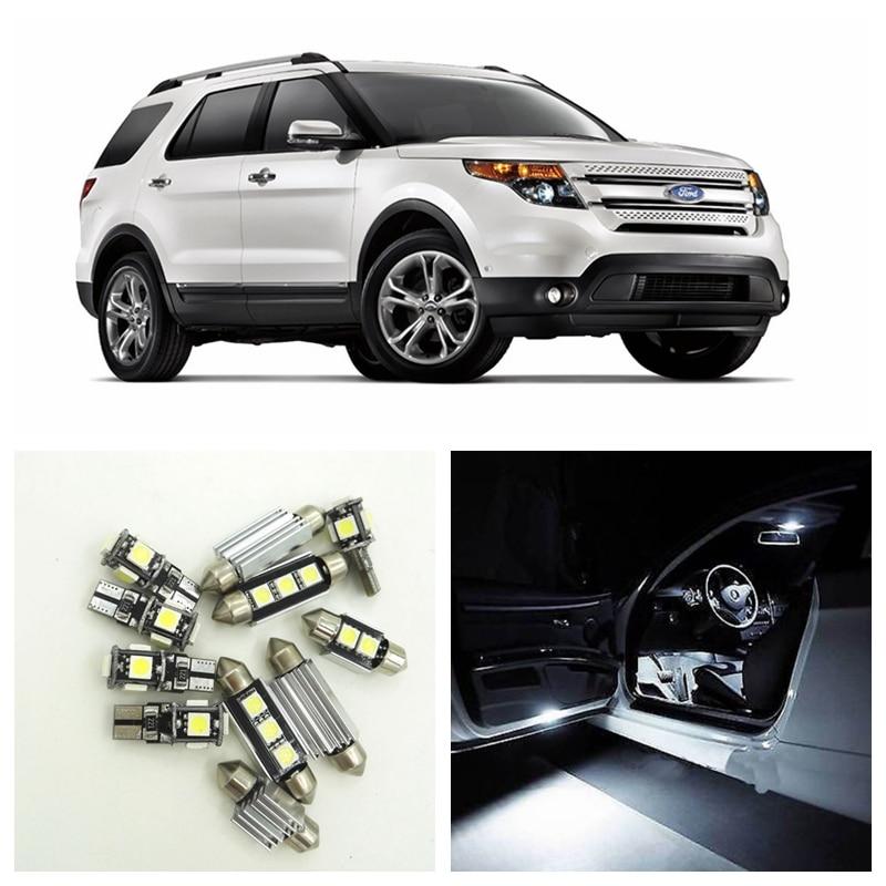 13 Piece Xenon White SMD Bulbs LED Interior Package & License Plate Map Lights For 2011-2015 Ford Explorer Ford-B-13 shanghai chun shu chunz chun leveled kp1000a 1600v convex plate scr thyristors package mail