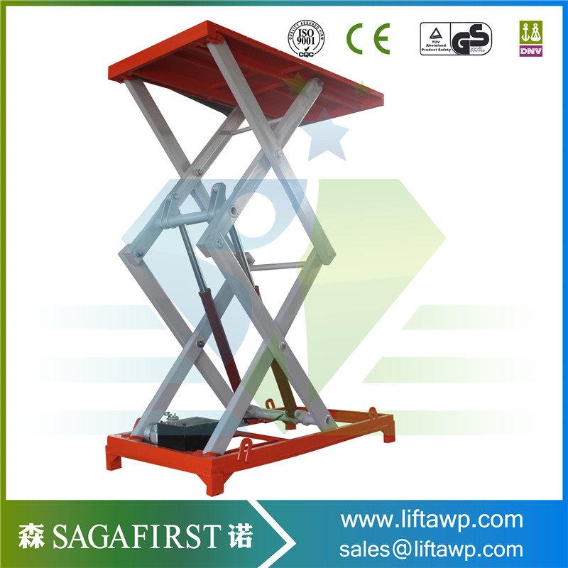 Double Scissor Lift Table With Removable Lifting Eye
