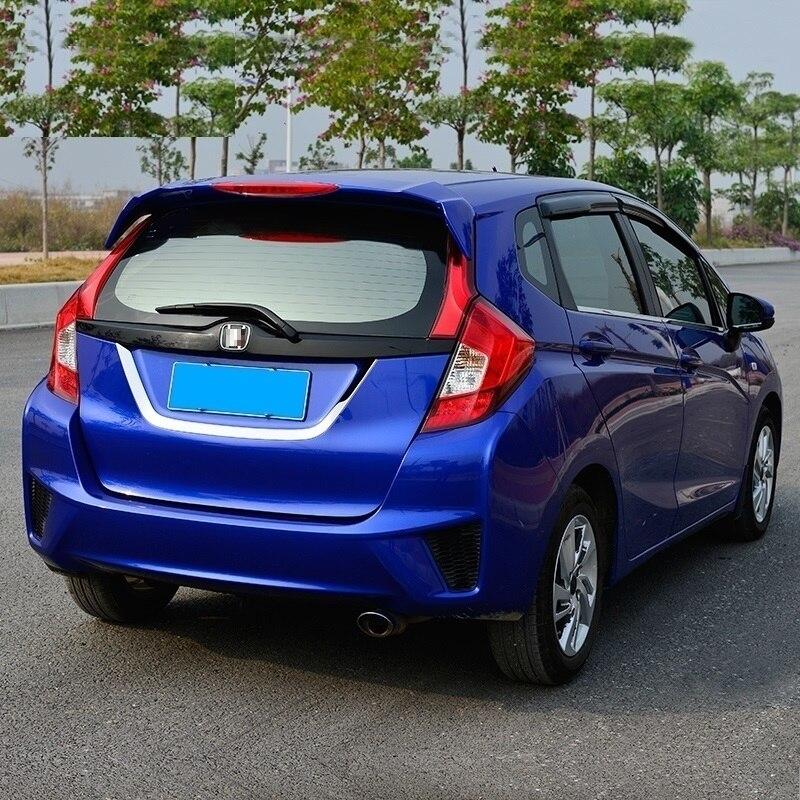Магистральные снаружи способствовать хрома изменение модификации яркими блестками Тюнинг автомобилей части аксессуары 14 15 16 17 для Honda fit