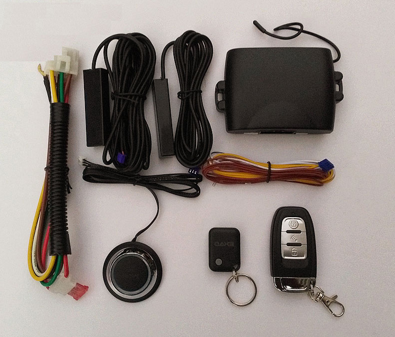 Remote PKE Car Alarm System Keyless Auto Start Engine Drukknop - Auto-elektronica