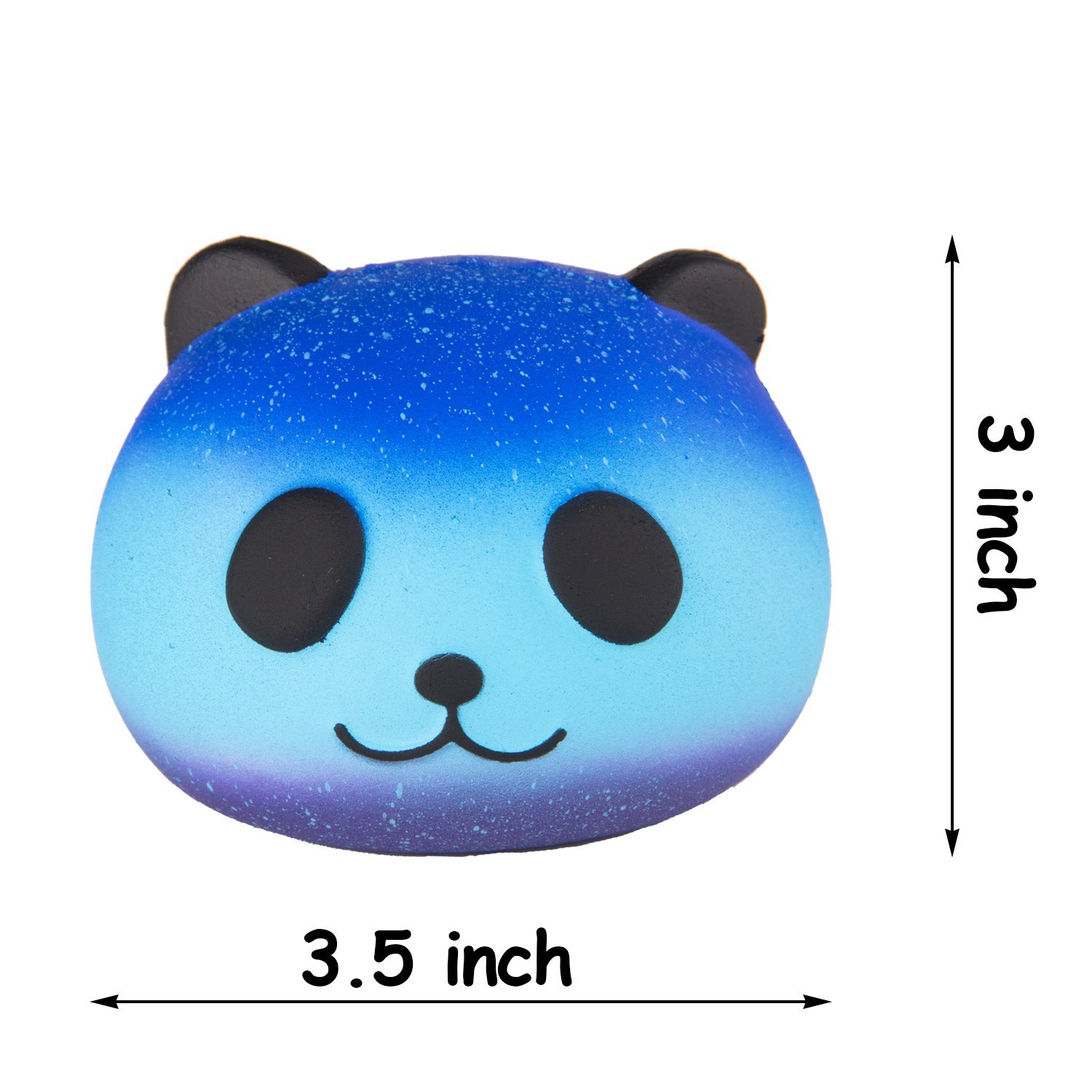 Jumbo Squishy Toy, Jumbo Cute Panda Egg with Star Panda Head Cream Scented Easter Squish ...