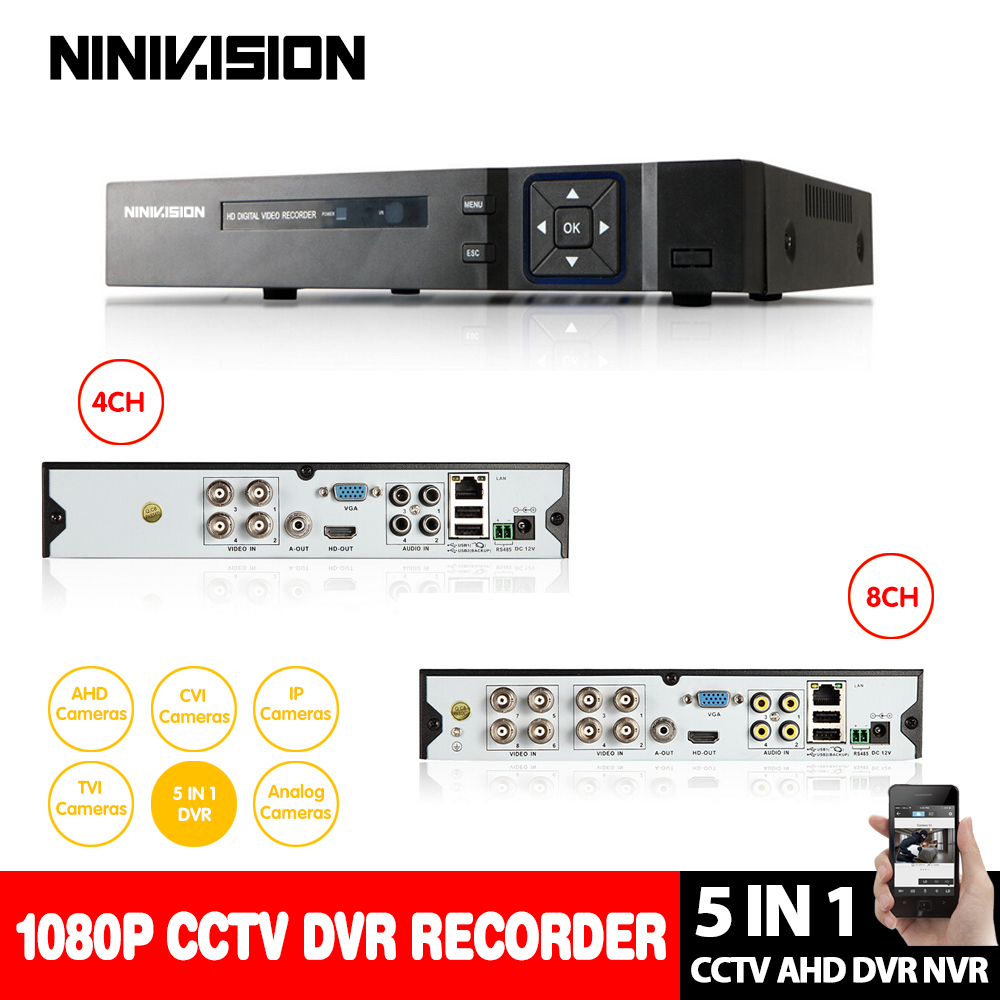 8Ch 1080P 8Ch 3MP 4Ch 5MP 5 IN 1 AHD CVI TVI CVBS CCTV DVR Hybrid NVR XVR Max 6TB Onvif Coxial RS485 Control P2P Mobile View 5 in 1 4ch ahd dvr nvr hvr cctv 4ch 1080n hybrid security dvr recorder camera onvif rs485 coxial control p2p cloud