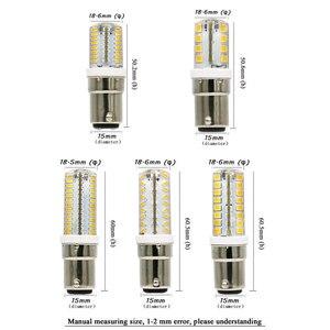 Image 3 - YOTOOS LED Lights B15 BA15D Led Bulb Lamp 220v 230v 240v Mini Lamp 3014 2835 SMD Silicone LED Corn Lamp Bulb Replace Home Lights