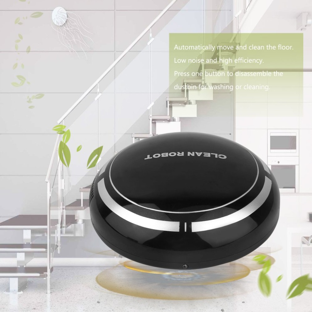 USB Charging Intelligent Electric Wireless Sweep Robot Automatic Multi-directional Round Smart Sweeping Robot Vacuum Cleaner adoolla mini smart automatic electric vacuum cleaner usb powered sweeping robot quiet robot vacuum cleaner for home