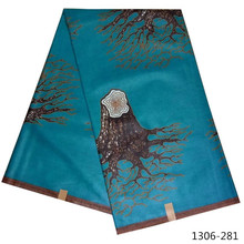 2019 New Kente Print Fabric Hot Women Dress African Ghana Cloth 6 Yards/Piece Wax 1306-171