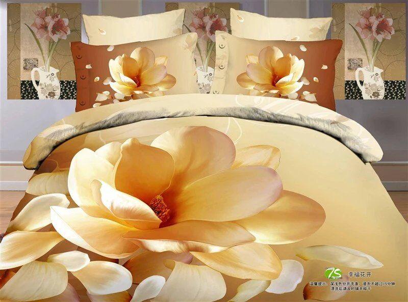 100% coton 3D ensemble de literie Floral reine roi taille drap de lit housse de couette drap housse de lit parrure de lit ropa de cama100% coton 3D ensemble de literie Floral reine roi taille drap de lit housse de couette drap housse de lit parrure de lit ropa de cama