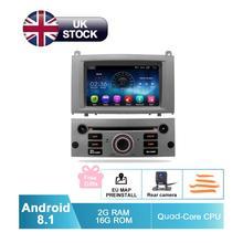 7 «HD Android 8,1 GPS для автомобиля, стерео для peugeot 407 Авто Радио FM RDS DVD WiFi Навигация BT Аудио Видео Мультимедиа резервная камера
