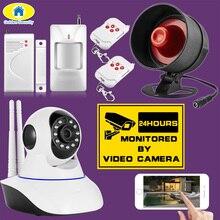 720P HD Wireless IP Camera Night Vision Audio Recording Network CCTV Indoor Alarm System Camera