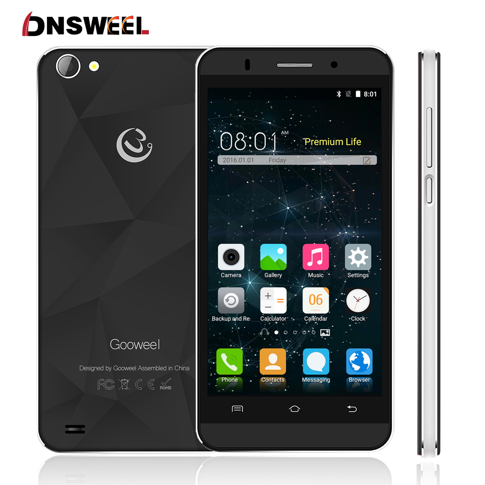 Free Gift Gooweel M5 Pro Cell phone MT6580 quad core 5 0 IPS QHD mobile phone