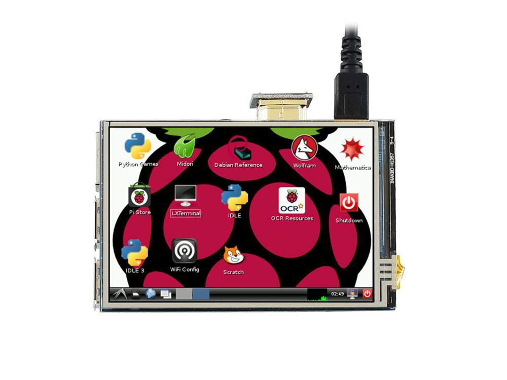 3.5 pouces HDMI LCD, 480x320, IPS écran tactile résistif LCD, interface HDMI conçue pour Raspberry Pi