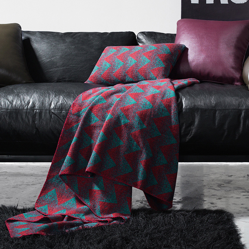 30% wool blending warm sofa cover 145*210cm , classical abstract style wearable blanket , sofa towel, car blanket for winter double sides reversible mysterious style blanket 130 160cm durable wearable comforter sofa cover cloth pet blankets floor mat
