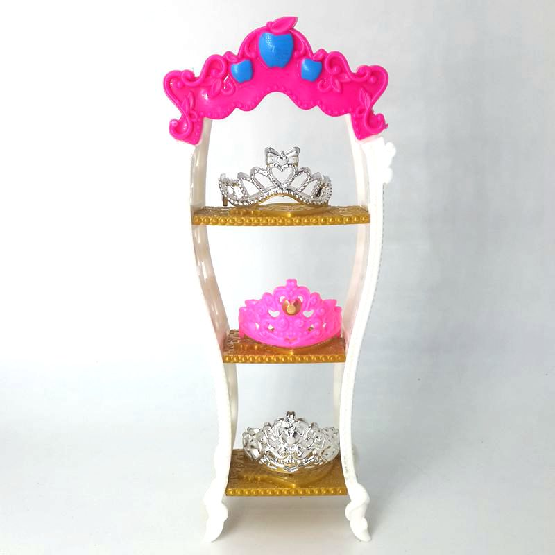 Doll Furniture Accessories Small House Decoration Cute Girls Shelf For Doll S Imperial Crown Best Christmas For