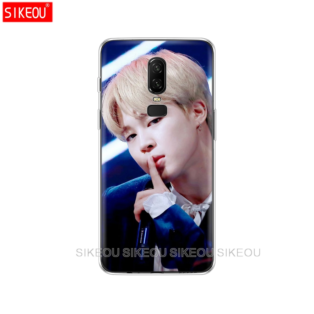 silicone cover phone case for Oneplus one plus 6 5T 5 3 A3000 A5000 BTS Bangtan Boys Jimin exo