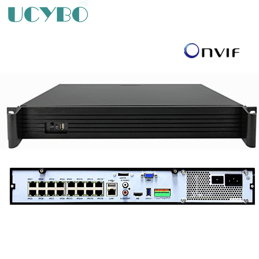 16CH channel NVR POE onvif 4HDD slot 48V for 5mp 3mp 1080P 2MP HD POE IP Camera network  ...