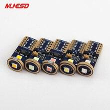 10 pces não polaridade 3030 chip lampada t10 w5w 7 w 194 168 3smd canbus led drl backup reversa dome lado luzes indicadoras