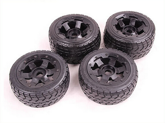 Baja on-road front and rear wheel and tyre for 1/5 HPI Baja 5B Parts Rovan KM Baja highway tire for baja 4 pcs 5b front highway road wheel set ts h95086 x 2pcs for 1 5 baja 5b wholesale and retail page 8