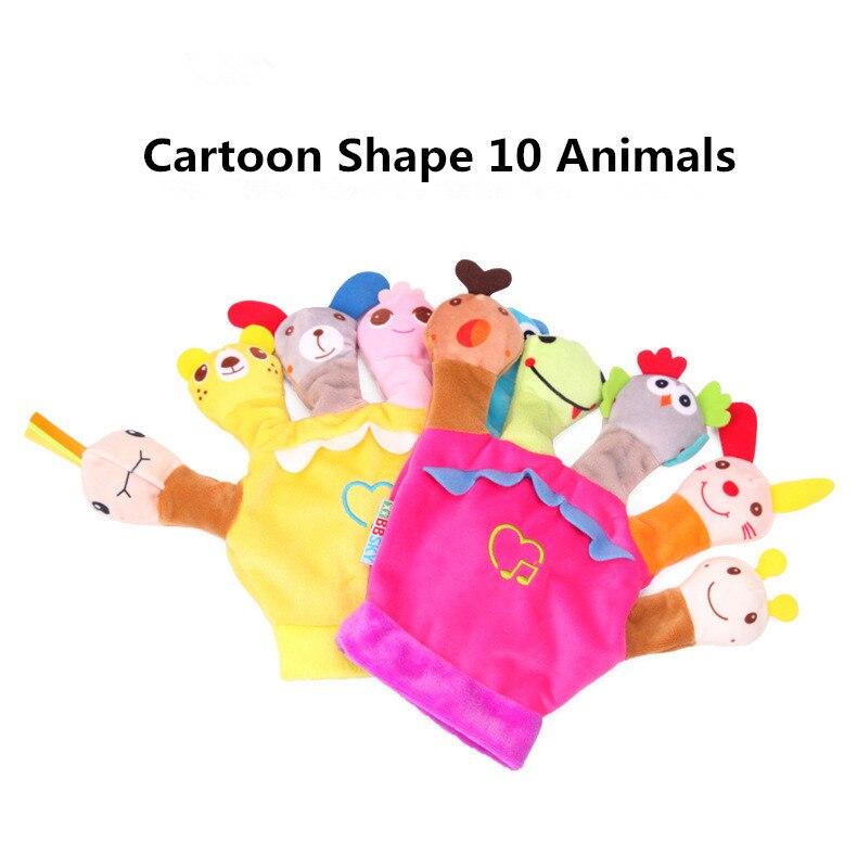Finger-Puppet Toys Animal Parent-Child-Interaction Plush Plush-Storytelling