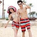 L-XXL Men Women Stripe Beach boardshort New Hot Shorts Couple Pants Trunks Fashion