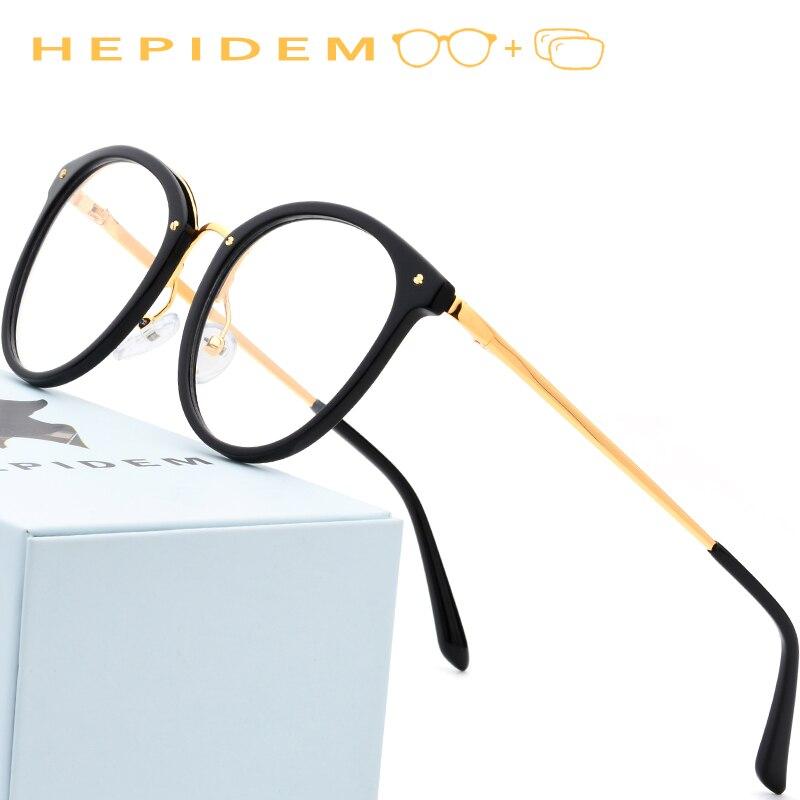 Acetate Prescription Glasses Frame Men Vintage Round Eyeglasses for Women 2018 Myopia Optical Frames Spectacles Retro
