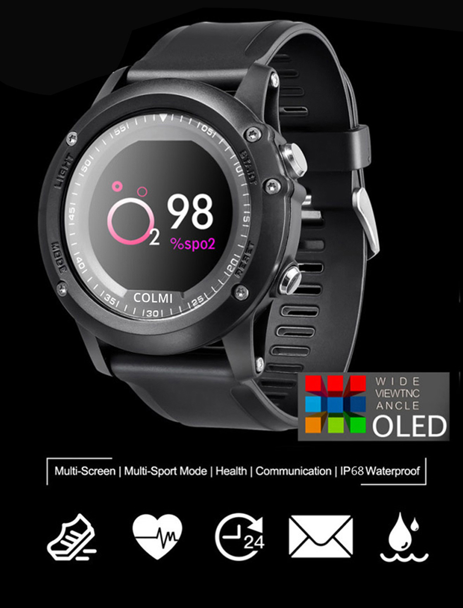 COLMI-T2-IP68-Waterproof-Heart-Rate-Monitor-Push-Message-Call-Reminder-Clock-Bluetooth-4.0-Brim-Men-Sport-Smart-Watch-1
