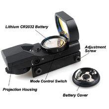 Мм 20 мм крепление Электро Красный и зеленый точка 4 Сетка рефлекторный вид красная точка
