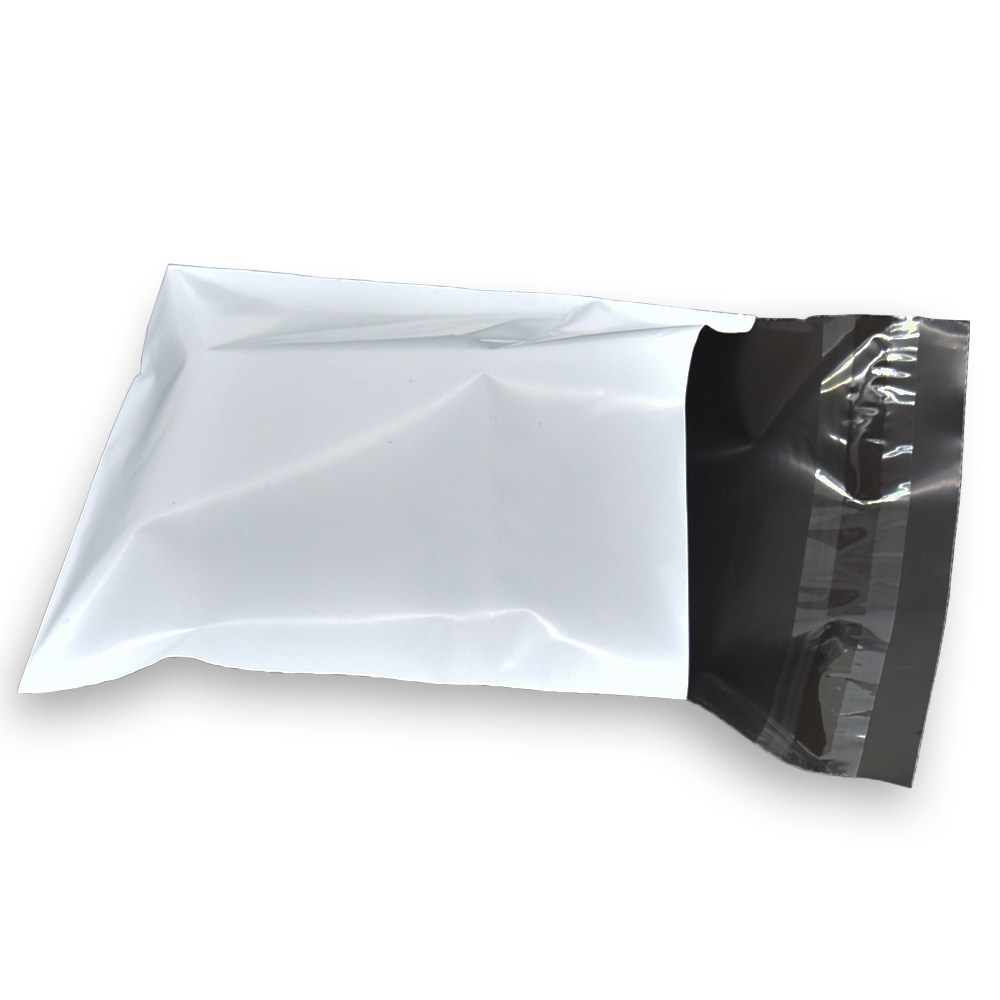 11x22 4cm White Courier Shipping Bag Self Adhesive Light Proof Courier Packing Envelope Bags Mailing Plastic Bag 100 Pieces in Storage Bags from Home Garden