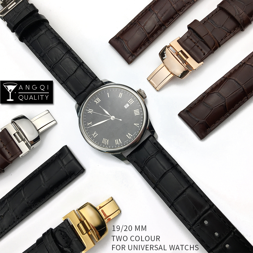 19mm 20mm 21mm Calf Genuine Leather For Tissot T41 T17 T014 Watchband Wrist Belt <font><b>Watch</b></font> Strap Bracelets <font><b>PRC200</b></font> T099 T063 T085 image