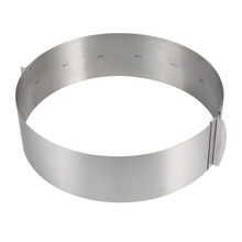 Cake Circle Mould Retractable Stainless Steel Mousse Ring Baking Tool Set Cake Mould Mold Size Adjustable Bakeware MYDING