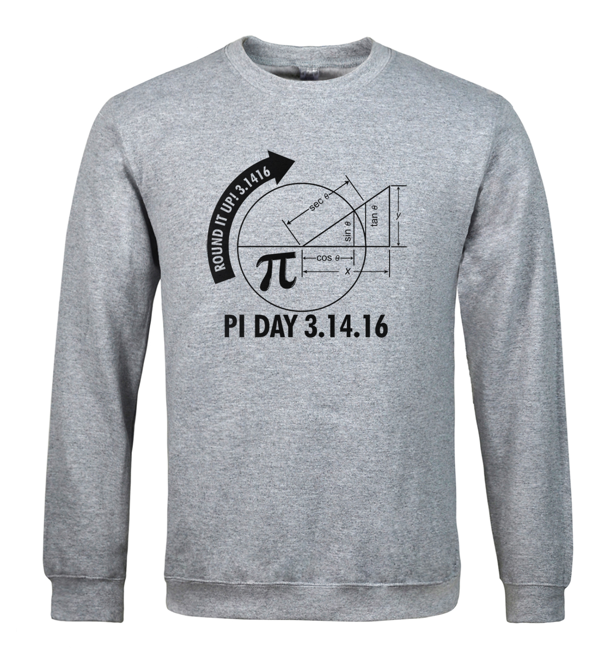 Sweatshirt 2018 spring winter hoody Pi Day 3.1416 Round It Up Math Graph STEM pattern mens sportswear hoodies men moletom k-pop
